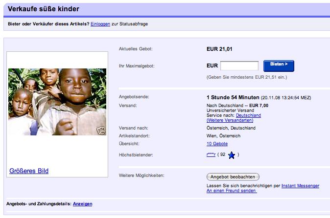 """Ebay01 in Internationaler Tag der Kinderrechte: """"süße kinder bei ebay"""""""