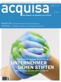 in Meinungsmacher-Kolumne zum Thema Green Marketing in der neuen Ausgabe der Zeitschrift acquisa